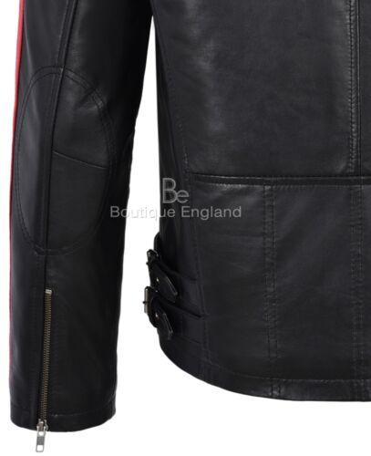 da uomo rosse Giacca e strisce nera stile 1831 beige con a in pelle Bikini motociclista EEqrBf