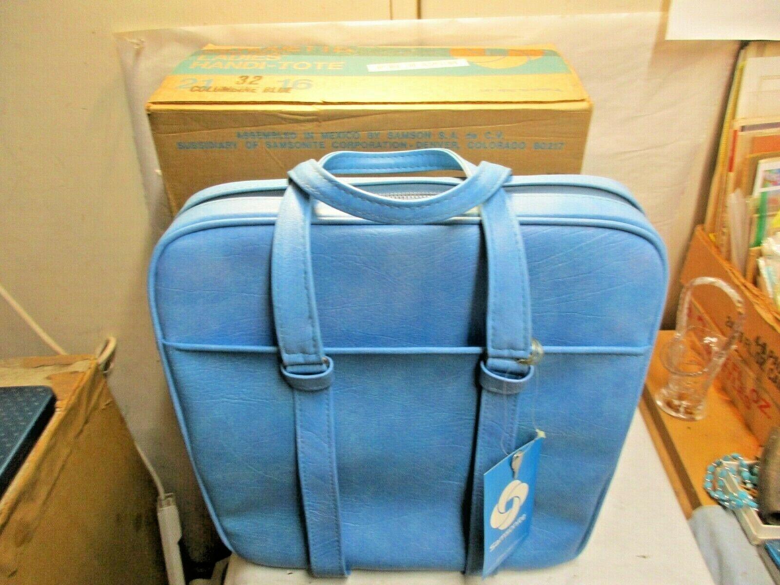 Vintage Samsonite Silhouette Columbine blu HandiTote Bag New In Box w Tag NIB