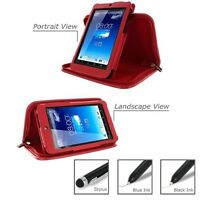 Roocase For Asus Memo Pad Hd 7 Executive Leather Case With Stylus Red Lot C24
