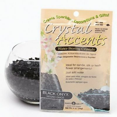 Crystal Accents water storing coloured gel crystals for vases 4 lt Black Onyx