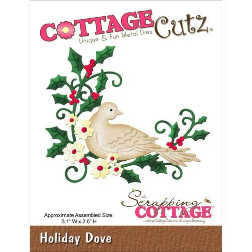 "Assembled Size 3.1/"" X 2.6/"" CC017 ~ RETIRED! CottageCutz Die ~ Holiday Dove"