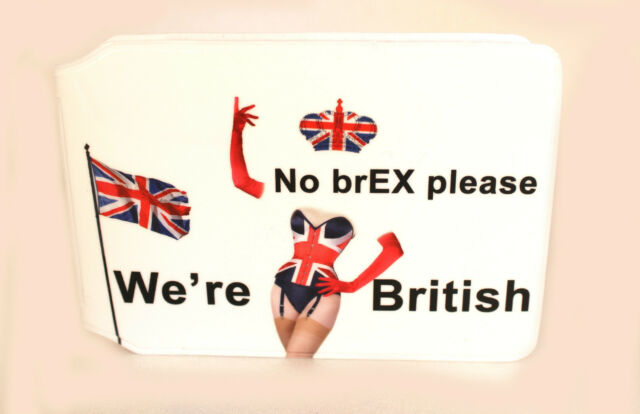 NO BREX PLEASE WERE BRITISH BUS PASS CREDIT TRAVEL BREXIT WALLET FOR OYSTER CARD
