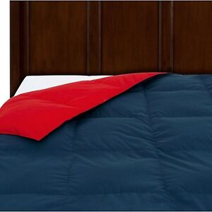 Waverly Reversible Peachy Down Comforter King Navy Red 467069