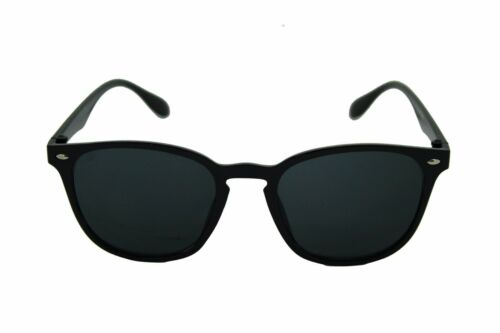 Mens Womens Uni Black POLARISED Lens Sunglasses Mirrored UV Matte Driving UV400