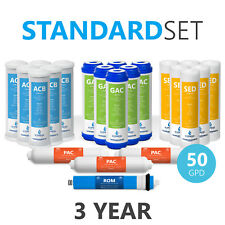 3 Year Reverse Osmosis System Replacement Filter Set ? 22 Filters ? 50 GPD