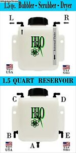 1.5 Quart HHO Bubbler Scrubber & 1.5 Quart Reservoir Tank, Custom Combo