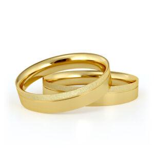 Brillant Eheringe aus massivem Gold 1 Paar Trauringe NUR JETZT 5mm breit