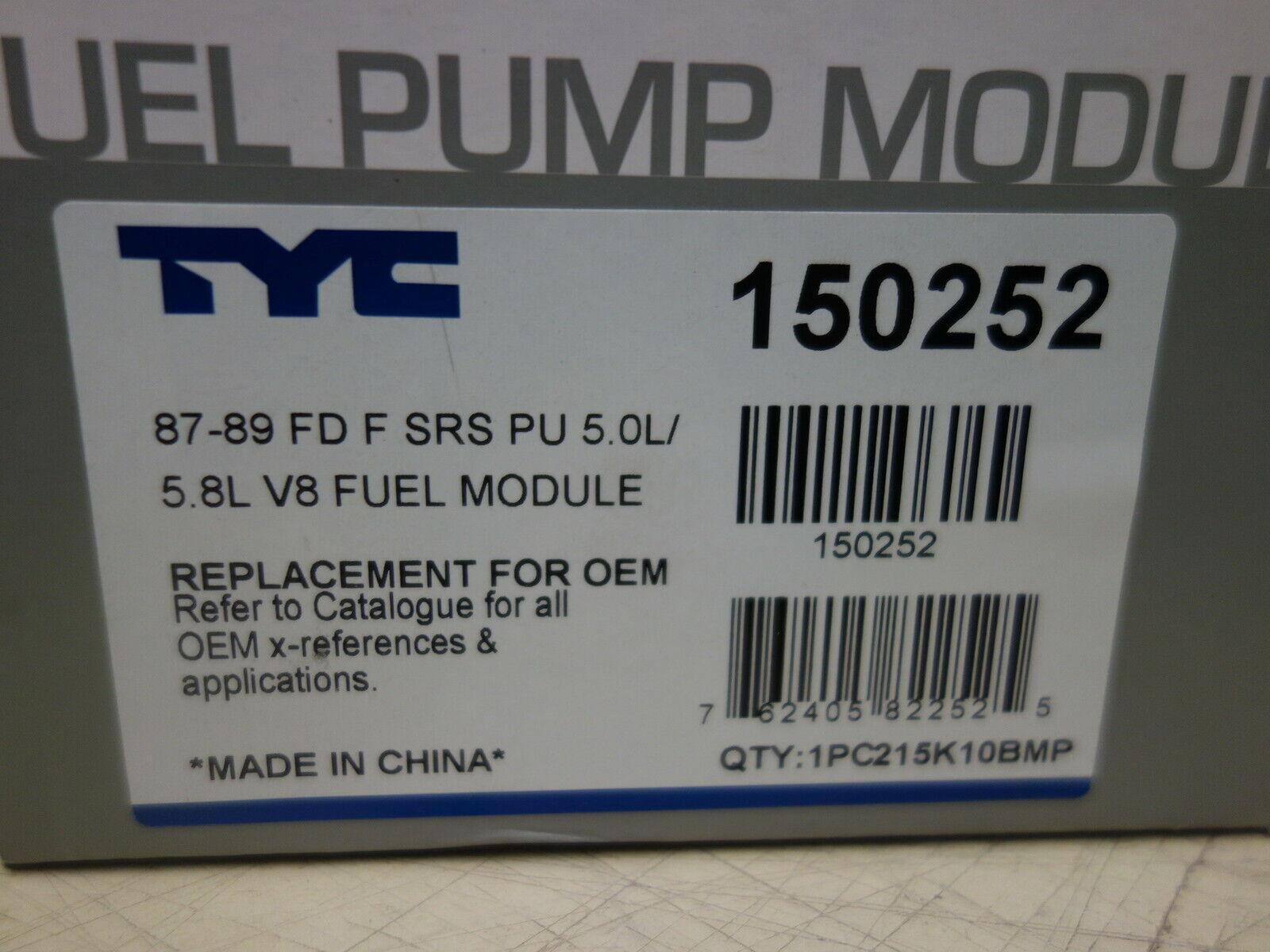 TYC 5.0//5.8L V8 FUEL MODULE FOR FRD F SUPERDUTY