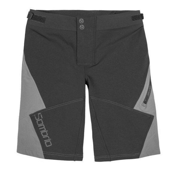 Sombrio Drift Wouomo Mountain Bike Mtb Baggy Cycling Shorts grigio Dimensione Small New