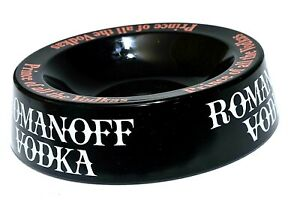 RARE-VINTAGE-Romanoff-Vodka-Ashtray-Cigar-Coin-key-Bowl-Ash-Tray-Antique-20cm