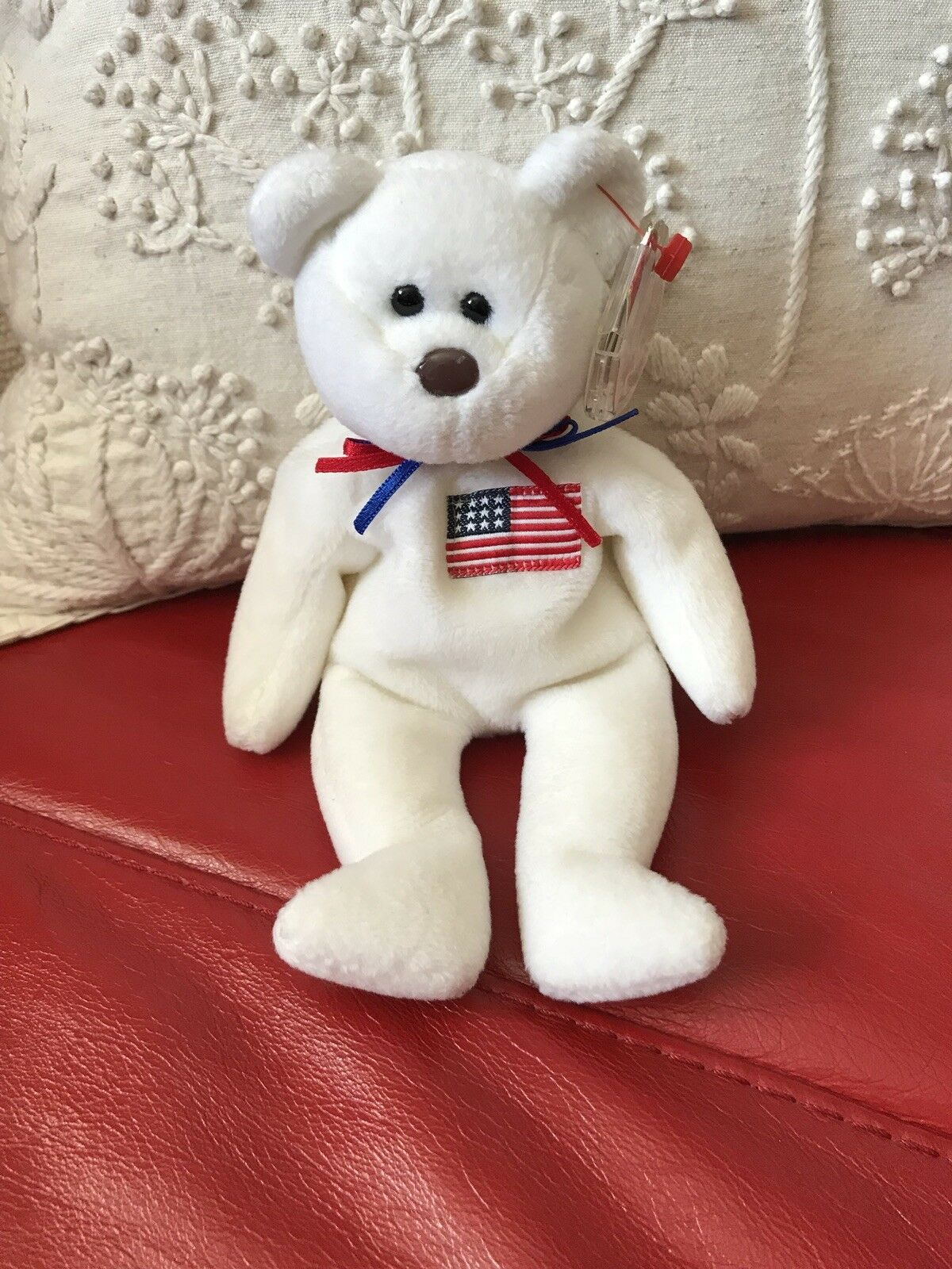 TY Beanie Bear Libearty Rare & Retired