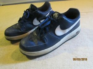 MENS-NIKE-AIR-FORCE-1-NAVY-WHITE-488298-436-SIZE-8