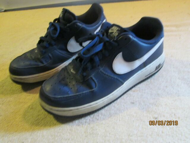 Nike Air Force 1 Low Af1 Mens Lifestyle Casual SNEAKERS Midnight Navy White 14