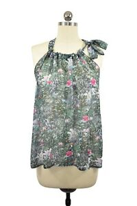 bb3ca345571b5 H&M Conscious Collection Blouse Size M Green Floral Spring Recycled ...