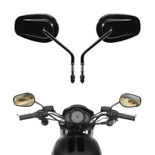 Black Rear View Side Mirrors Fit For Harley Road King Touring XL 883 SPORTSTER