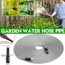 Stainless Steel Metal Garden Hose 255075100ft Flexible Hose Water Tube