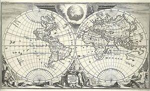 Antique-map-De-Aard-Kloot-Volgens-de-Hedendaagse-Gedaante