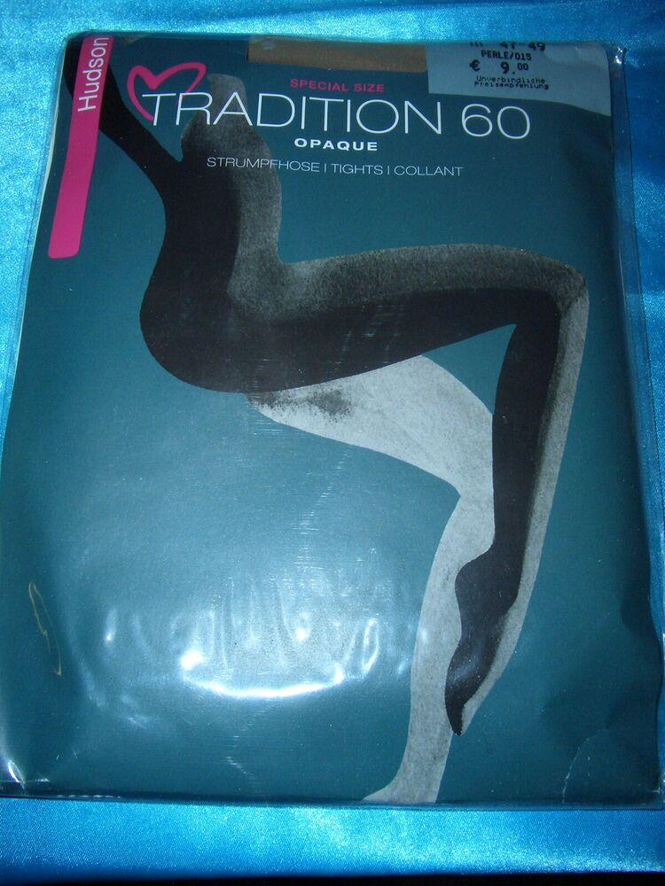 Hudson Tradition Regard Densité Collant Taille 47-49 Perle 60 Le Collant Neuf Dans Sa Boîte