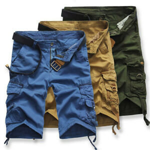 Men-039-s-Summer-Casual-Pants-Military-Army-Combat-Camo-Overall-Shorts-Cargo-Sports