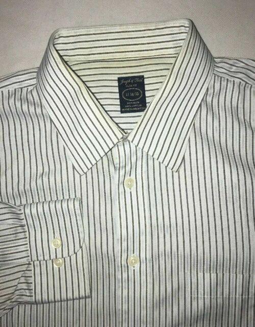 Men's Joseph & Feiss Button Down Dress Shirts Size 17 34/35 Slim Fit