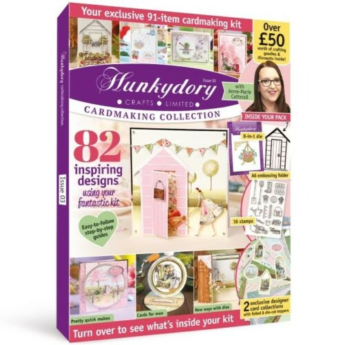 HUNKYDORY CARDMAKING COLLECTION MAGAZINE ISSUE 3 FREE DIES STAMPS TOPPERS PAPERS