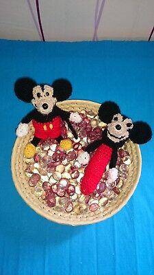 Spielzeug Logisch 1 Kleine Plüsch Maus Schmusemaus Für Babys Handarbeit *neu* Gute QualitäT
