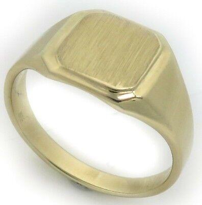 Neu Herren Ring echt Gold 585 mit Monogrammgravur Gelbgold Qualität 14 karat Top | eBay