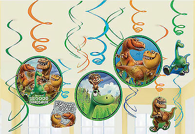 THE GOOD DINOSAUR 12 Swirls Birthday Decorations Party Supply Prehistoric Favor