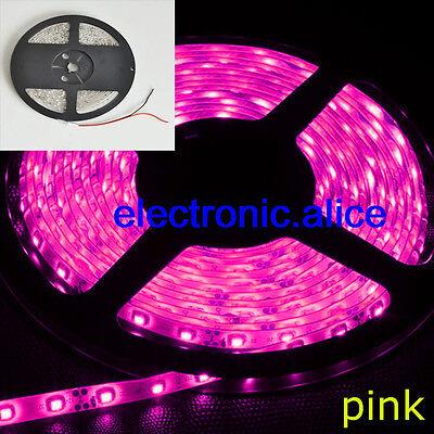 5M 5050 SMD Pink 300 LED Flexible Light Strip 60LED/M 12V For no-waterproof
