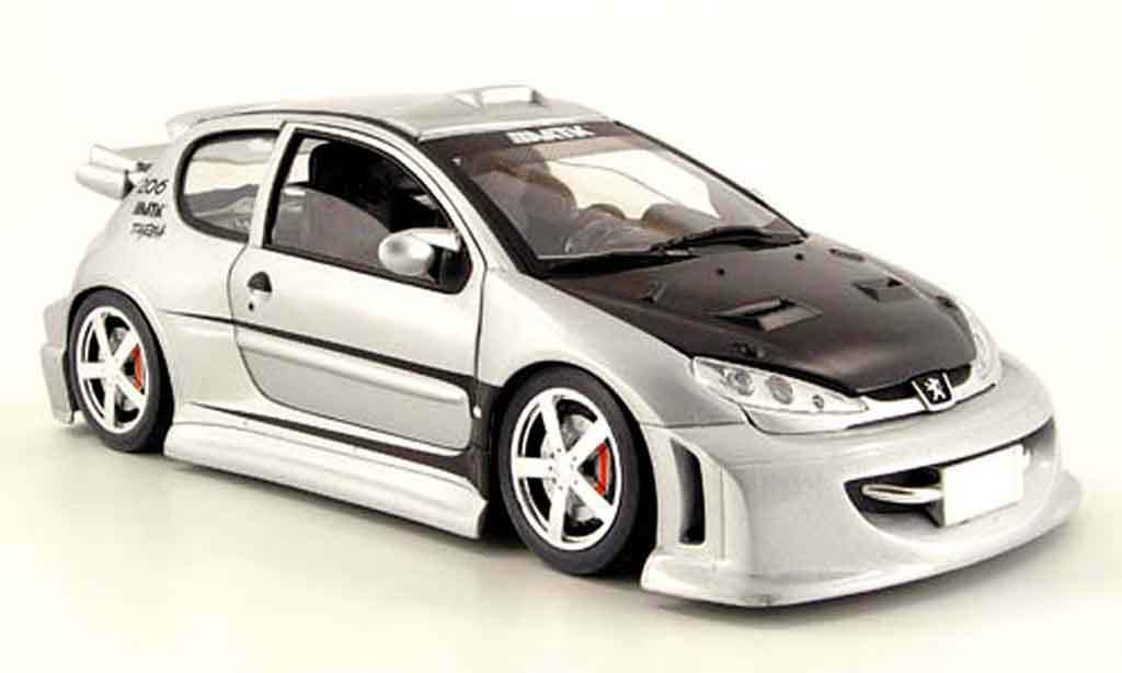 PEUGEOT 206 MTK TARGA COLLECTION TUNING SOLIDO 8181 1 18 NEW gris ARGENTE