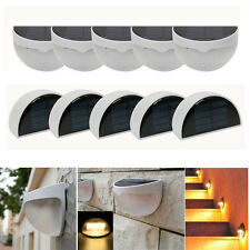 10Pcs 6 LED Solar Power Light Sensor Light Outdoor Garden Fence Yard Wall Lamp