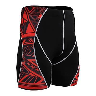 FIXGEAR Compression Skin Tights Shorts P2S-B2 MMA Workout Crossfit Fitness Yoga