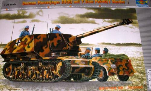 H 7.5cm Pak40//1 Marder 1:35 Modell-Bausatz NEU OVP kit Trumpeter Panzerjäger 39