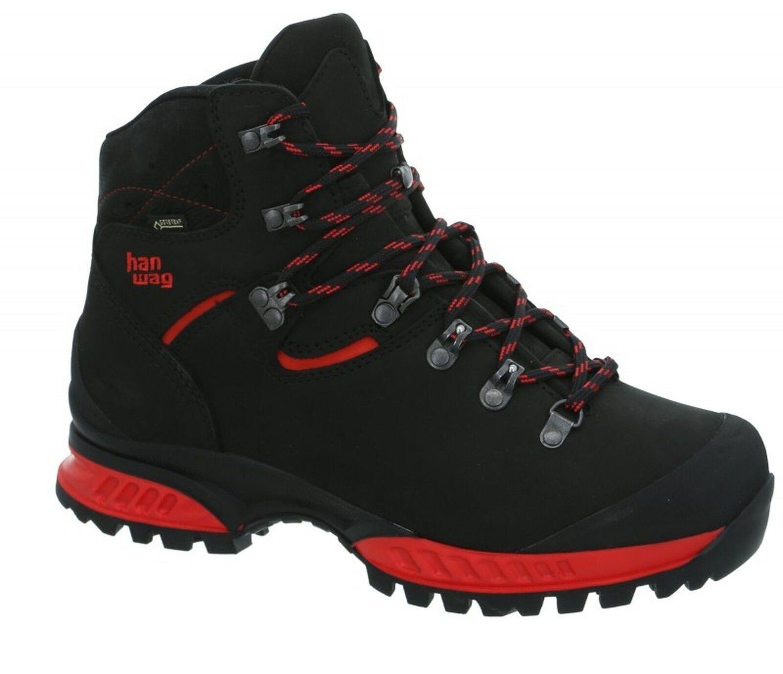 Hanwag montaña zapatos Tatra II GTX tamaño 7,5 - 41,5 negro-rojo