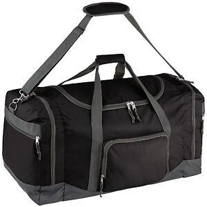 Sac de sport fitness football randonnée voyage transport 90L 70x35x35cm noir