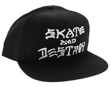 item 5 THRASHER Skateboard Magazine Skate And Destroy Embroidered Black  Snapback Hat -THRASHER Skateboard Magazine Skate And Destroy Embroidered  Black ... ec132446d