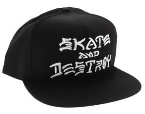 6b83adbfa2e Image is loading THRASHER-Skateboard-Magazine-Skate-And-Destroy-Embroidered -Black-