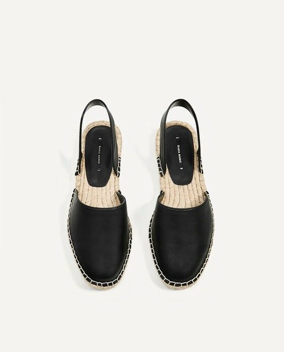 Zara Women Espadrilles Sandals Black Size 6 EUR 36 NWT