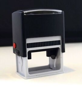 10-x-Blank-Self-Inking-Stamps-53mm-x-30mm-Black-pre-inked