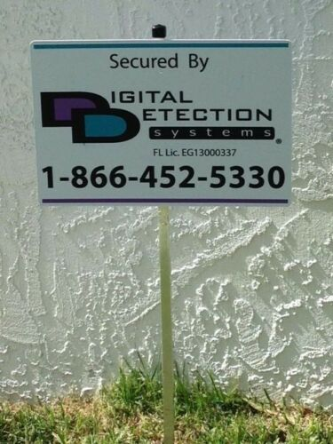 Reflective DDS Security Yard Sign Mounted on Stake 1