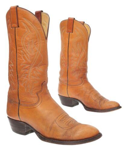 JUSTIN Cowboy Boots 9 D Mens FARMER RANCHER Worn L