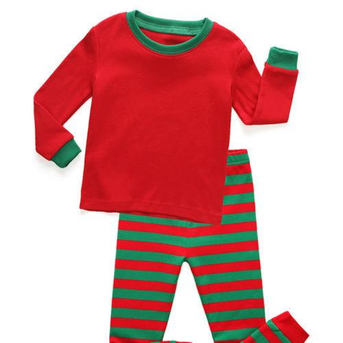 2Pcs Pyjamas Set Kids Boys Girls Christmas Xmas Pjs Sleepwear Nightwear Outfits