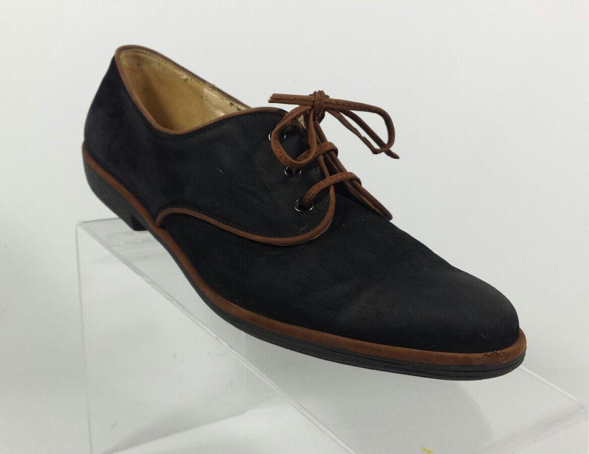 Salvatore Ferragamo mujer talla 8 A Casual Oxfords Zapatos Bajos Bajos Bajos Zapatos Cuero Negro (K2)  tienda de bajo costo