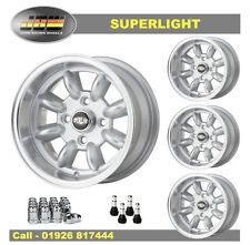 7x 13 Superlight Wheels Classic Mini Set of 4 Silver