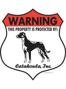 "Akita Warning 7/"" x 8/"" Property Protected Aluminum Dog Sign Badge"