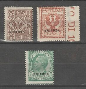 S36302 Eritrea 1924 MNH Definitives Saxon 77/79 3v