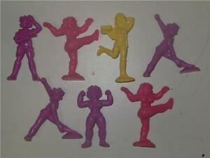 C-U-T-I-E-Mattel-Japan-1986-Lot-7-Multi-Color-1986-Girl-Toy-Figures-Muscle-Rare