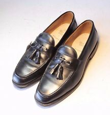ALLEN EDMONDS Sz. 9.5 D Black Tassel Loafers SlipOns Moccassins Mens Dress Shoes
