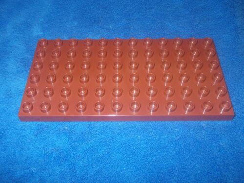 Lego Duplo Mickey 1 X Bauplatte 6 X 12er Noppen Braun Ritterburg 10889 NEU