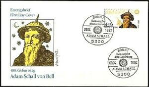 Frg-1992-Sound-by-The-Bell-FDC-Der-No-1607-With-Bonner-Sonderstempeln-1A